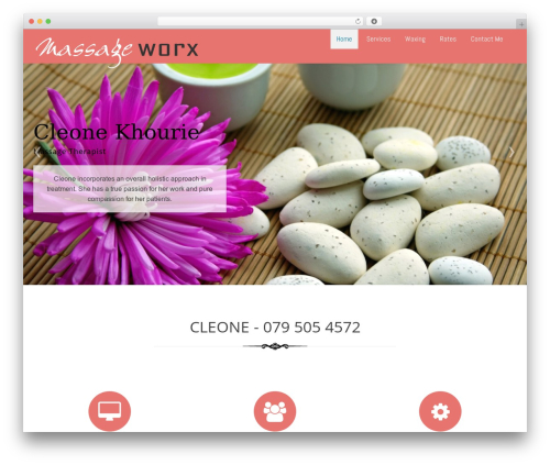 Ariwoo massage WordPress theme - massageworx.co.za