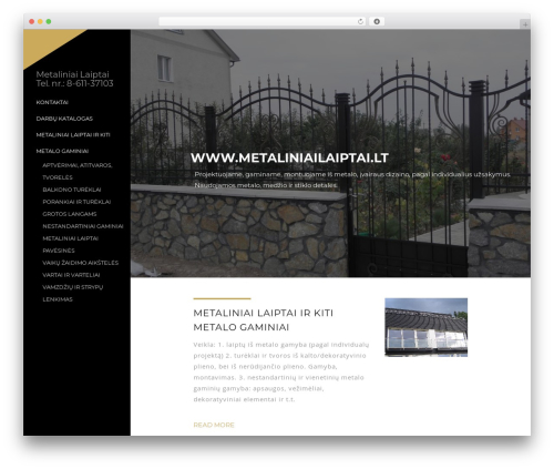 Best WordPress template TheWest - metaliniailaiptai.lt