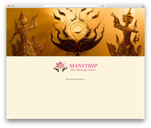 Best WordPress theme Impreza - massaggithaimilano.it