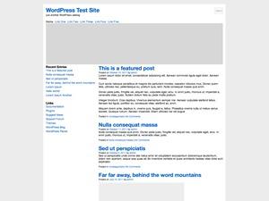 Blank Two Column, Left Sidebar WordPress theme by Blank Themes
