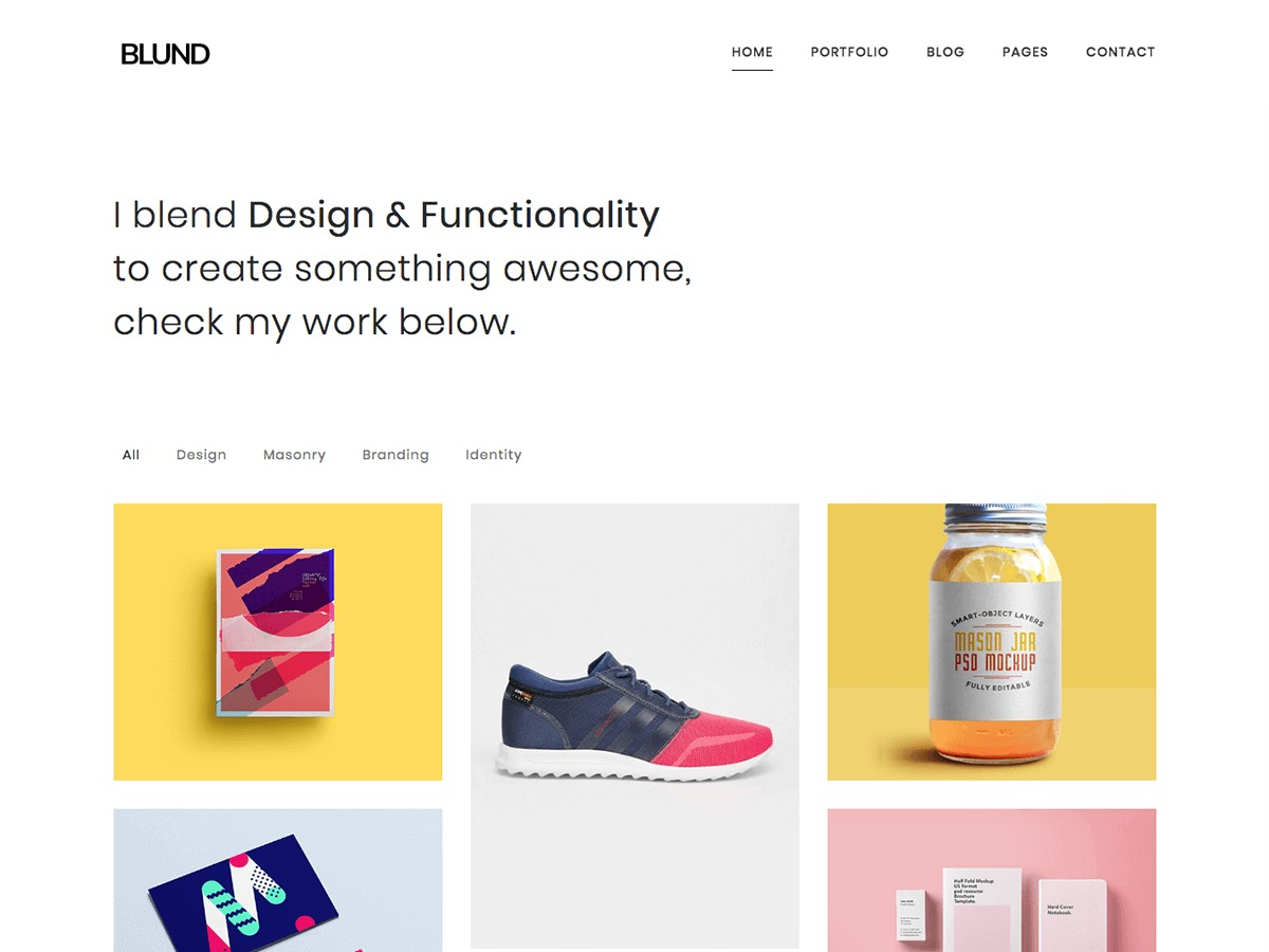 Blund WordPress template