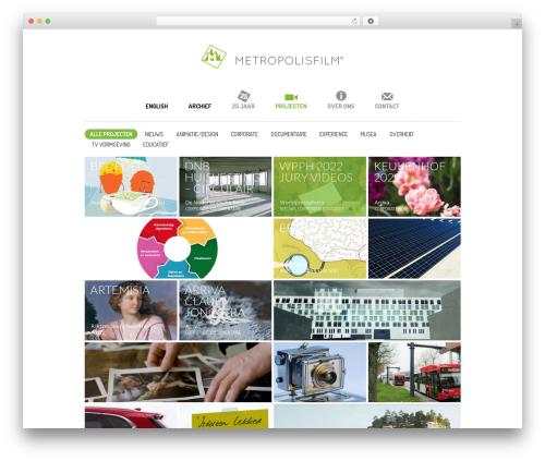Free WordPress ARVE Advanced Responsive Video Embedder (YouTube, Vimeo, HTML5 Video …) plugin - metropolisfilm.nl