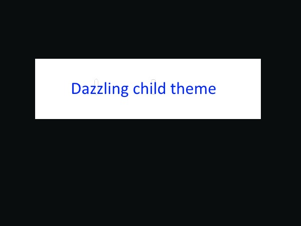 Dazzling child theme WordPress theme