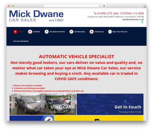 Dynamic WordPress theme - mickdwane.co.uk