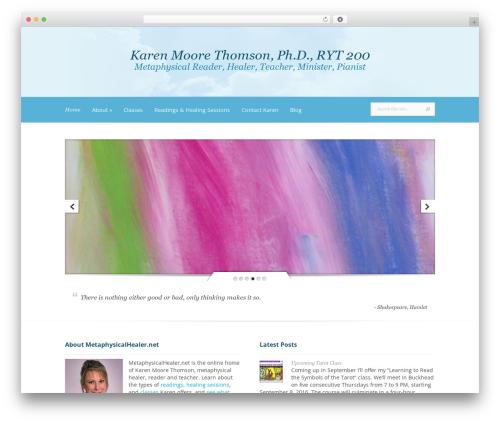 Evolution WordPress theme - metaphysicalhealer.net