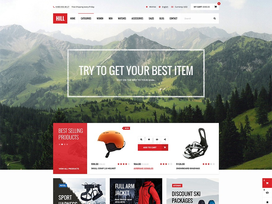 Hill WordPress ecommerce theme