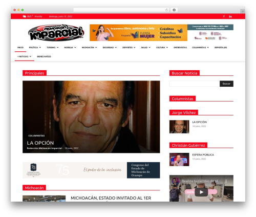 Newspaper WordPress template - michoacanimparcial.com