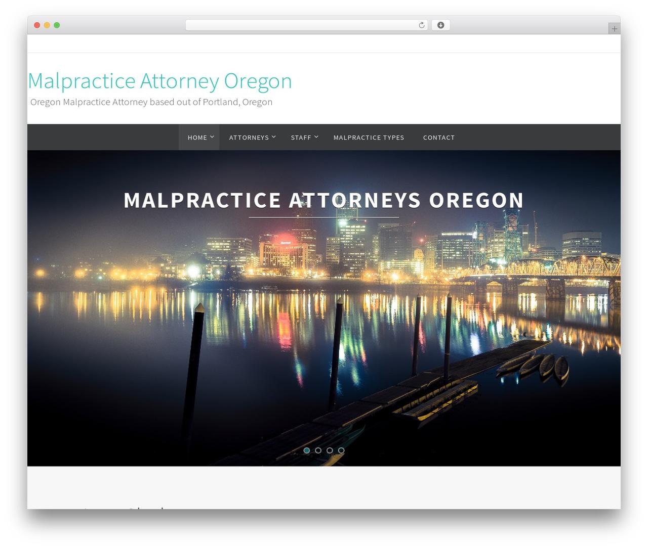 Nirvana free website theme - malpracticeattorneyoregon.com