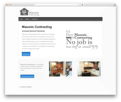 Responsive theme WordPress - masoniccontracting.com