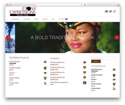 TopShop free WordPress theme - myebonyexpressions.com
