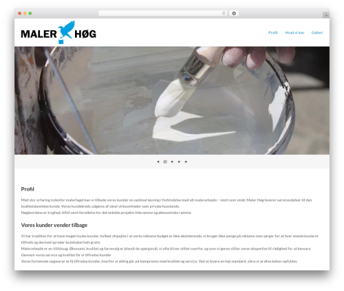 Ultra Premium theme WordPress - malerhoeg.dk