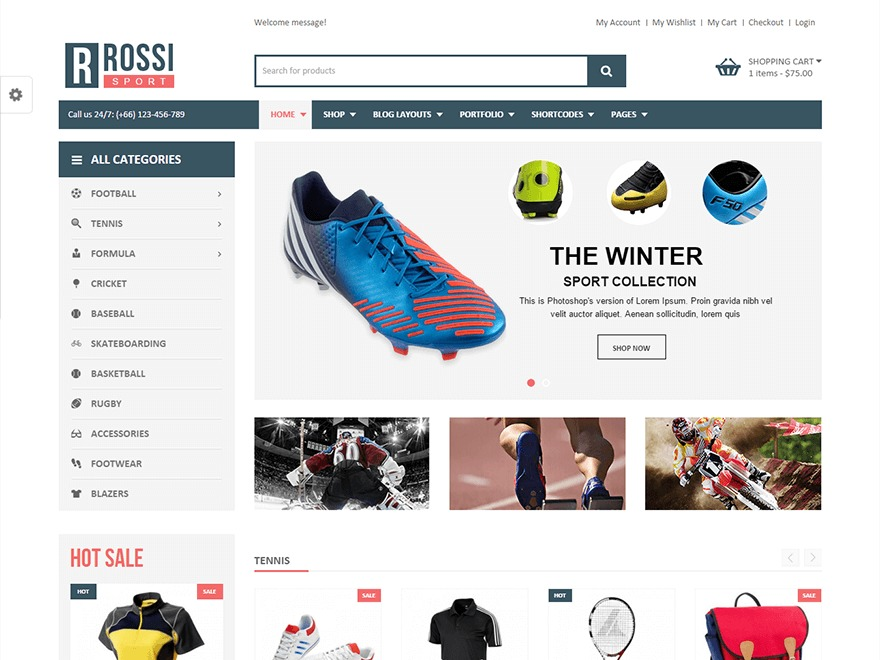 VG Rossi WordPress store theme