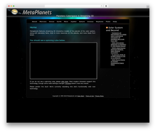 WordPress theme Aurelia - metaplanets.org