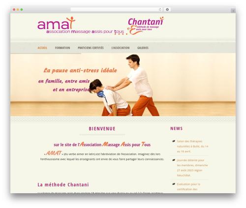 WordPress theme Dream Spa - methodechantani.ch