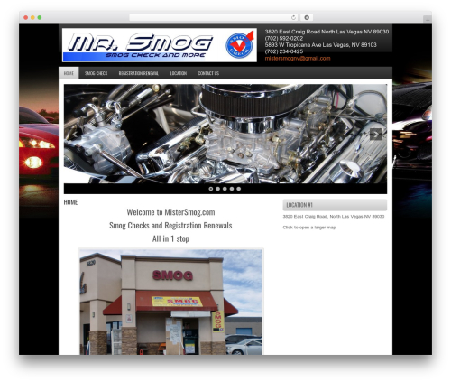 WordPress theme FastCar - mistersmog.com