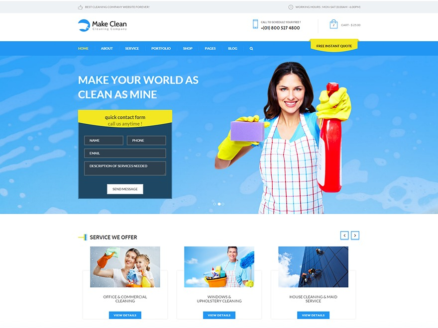 WordPress theme Make Clean