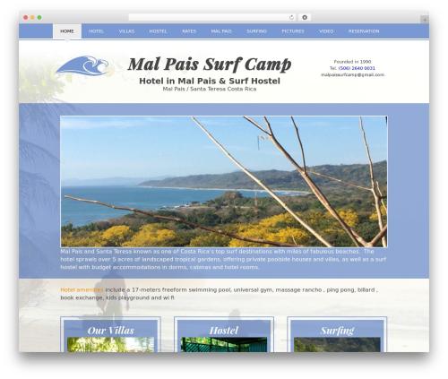 WP-Starter best hotel WordPress theme - malpaissurfcamp.com