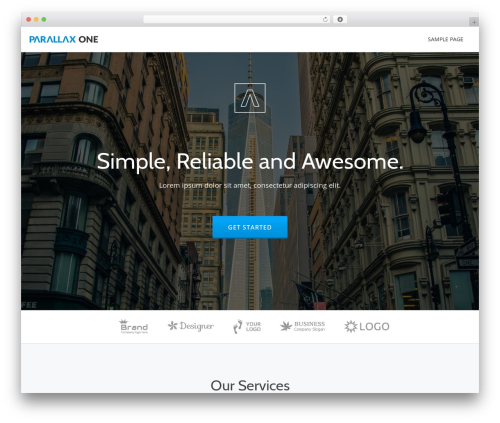 Best WordPress template Parallax One - massagetherapy.works