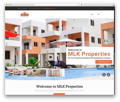 Betheme template WordPress - mlkproperties.com