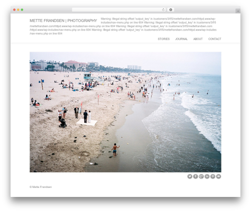 BootstrapWP photography WordPress theme - mettefrandsen.com
