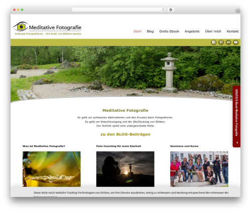 Celestial Reloaded theme WordPress - meditative-fotografie.de