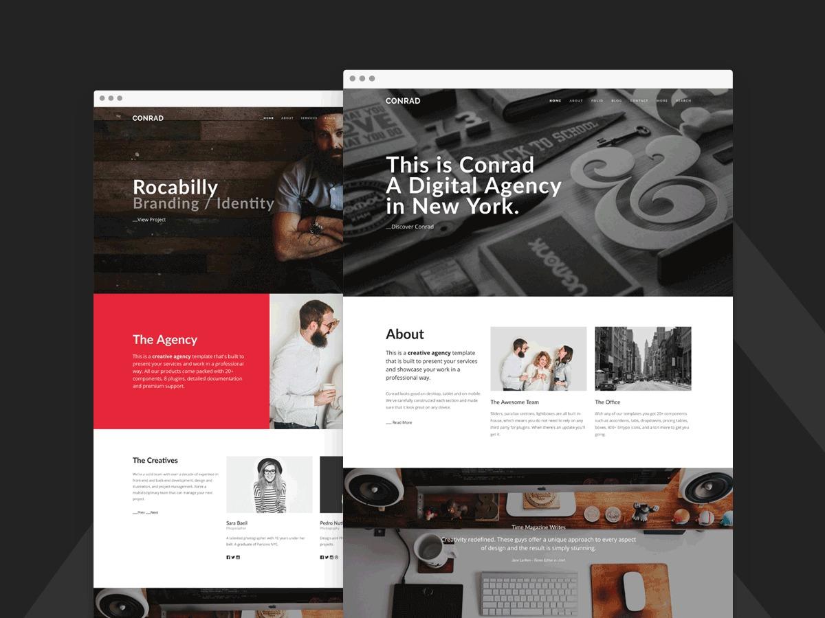 Conrad best portfolio WordPress theme