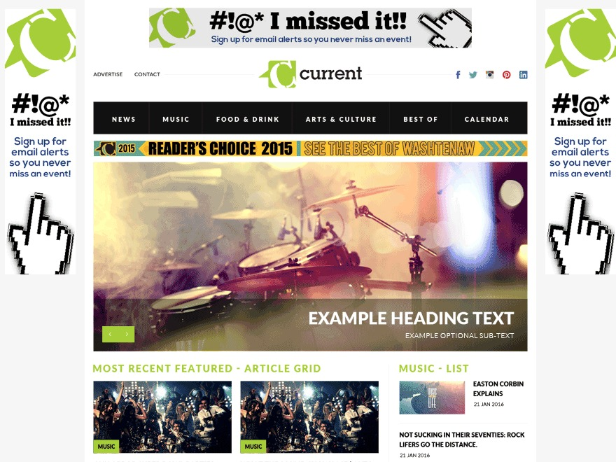 Current Magazine WordPress news theme