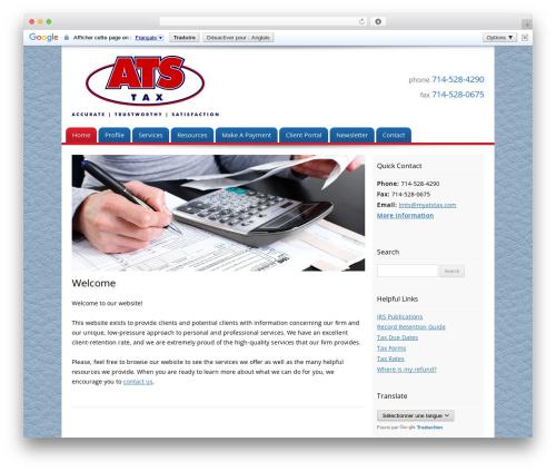 Customized company WordPress theme - myatstax.com