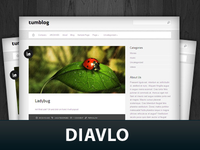 Diavlo WordPress blog template