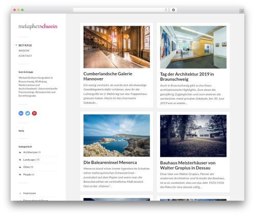 Fukasawa WordPress page template - metapherschwein.de