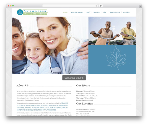 Lounge best WordPress template - mallardcreekdentistry.com