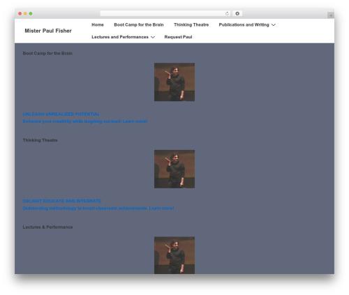 Responsive free website theme - misterpaulfisher.com