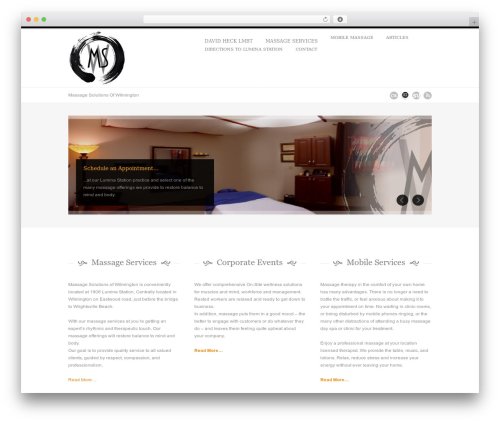 Sevenwonders massage WordPress theme - massagesolutionsofwilmington.com