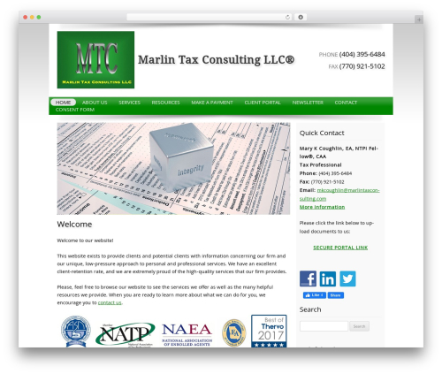Template WordPress Customized - marlintaxconsulting.com