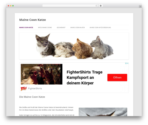 Twenty Twelve best free WordPress theme - maine-coon-katze.info
