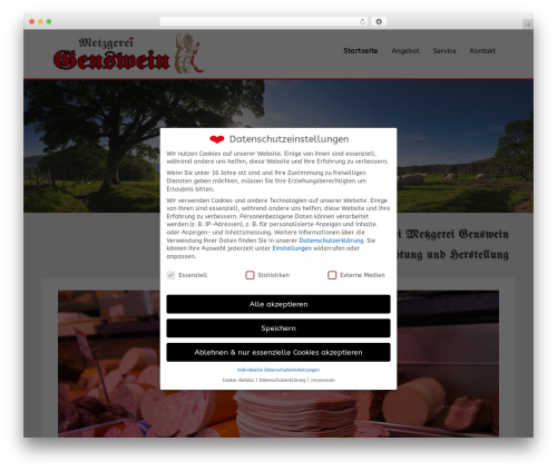 Ultimatum WordPress website template - metzgerei-genswein.de