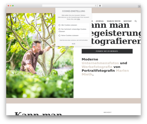 Uncode WordPress template for business - marlenmieth.de