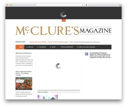 UrbanNews WordPress magazine theme - mccluresmagazine.com