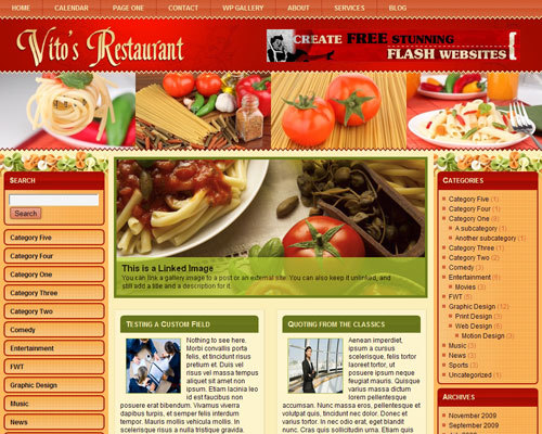 vitos_restaurant food WordPress theme