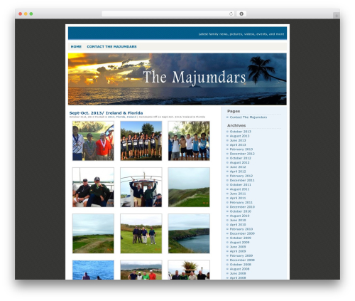 WordPress theme Blue Box - majumdar.com/wp