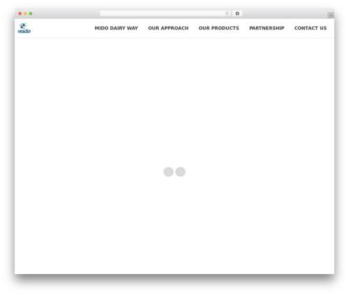 WordPress theme North (shared on wplocker.com) - mido-dairy.com