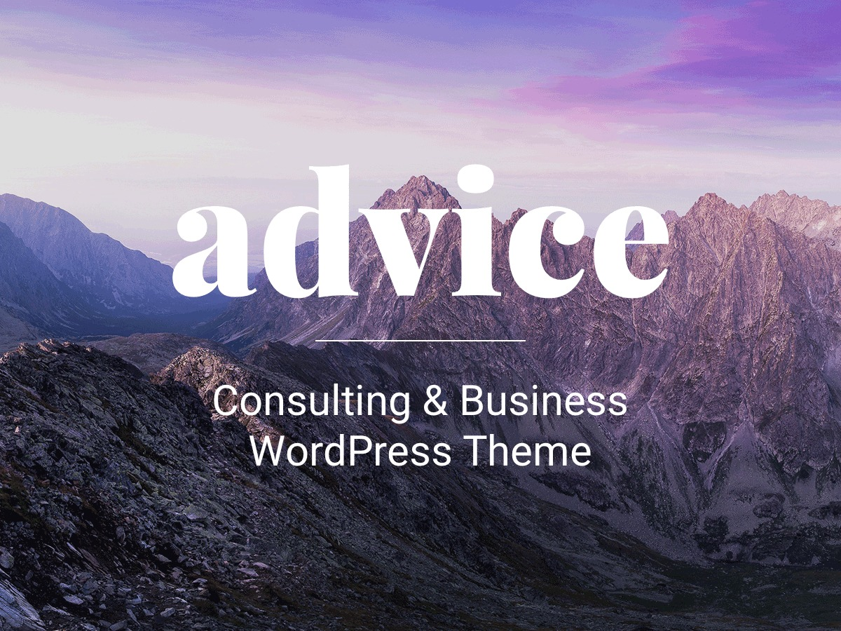 Advice business WordPress theme