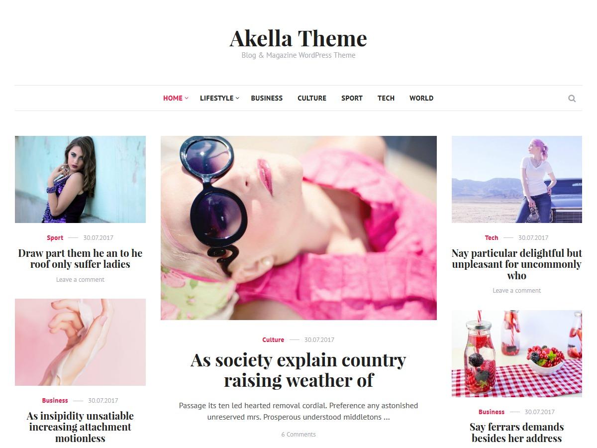 Akella WordPress news template