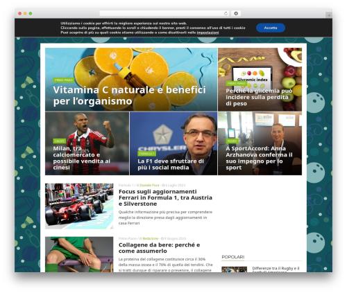 Best WordPress template ADMAG - mondosportblog.com