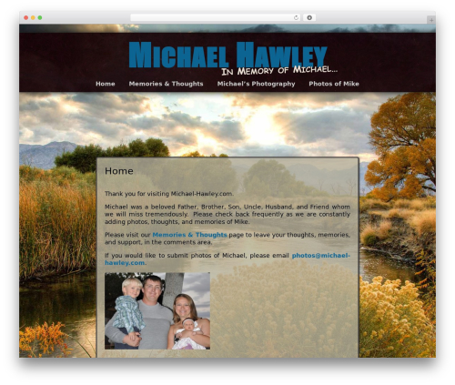 Best WordPress theme Adventure - michael-hawley.com