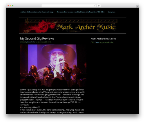 Best WordPress theme Clean Black - markarchermusic.co.uk