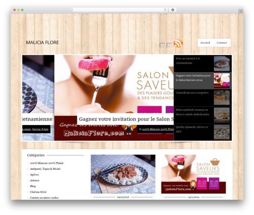 Best WordPress theme CookingPress - maliciaflore.com
