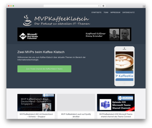 Current template WordPress free - mvpkaffeeklatsch.de
