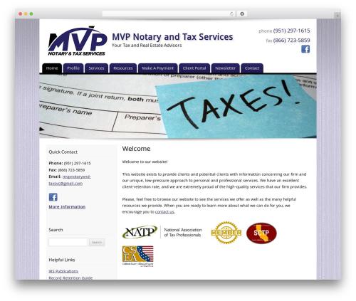 Customized company WordPress theme - mvpnotaryandtax.com