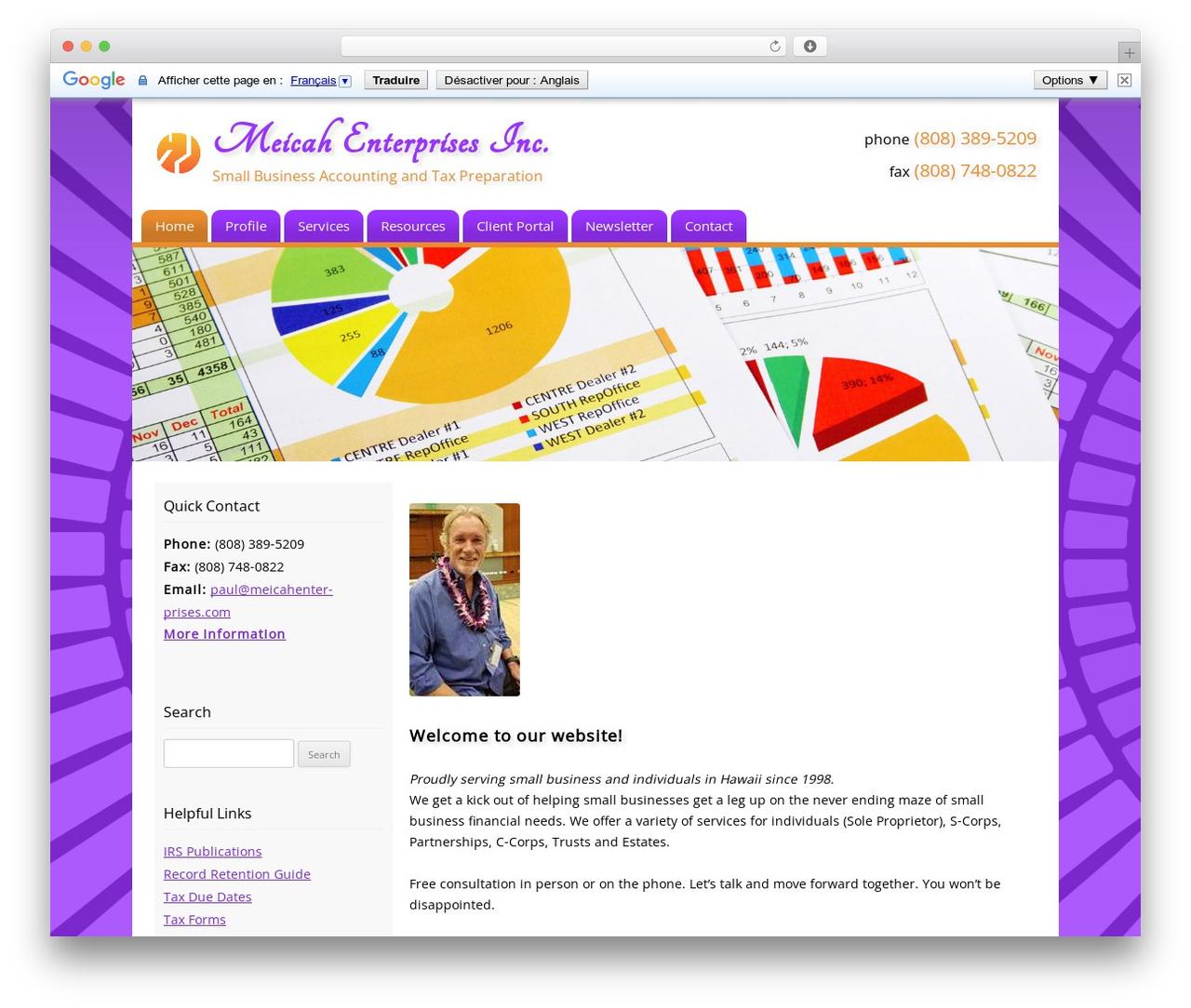 Customized theme WordPress - meicahenterprises.com